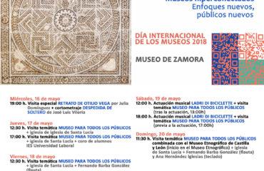 Programación del Día Internacional de los Museos 2018 en el Museo de Zamora!!!